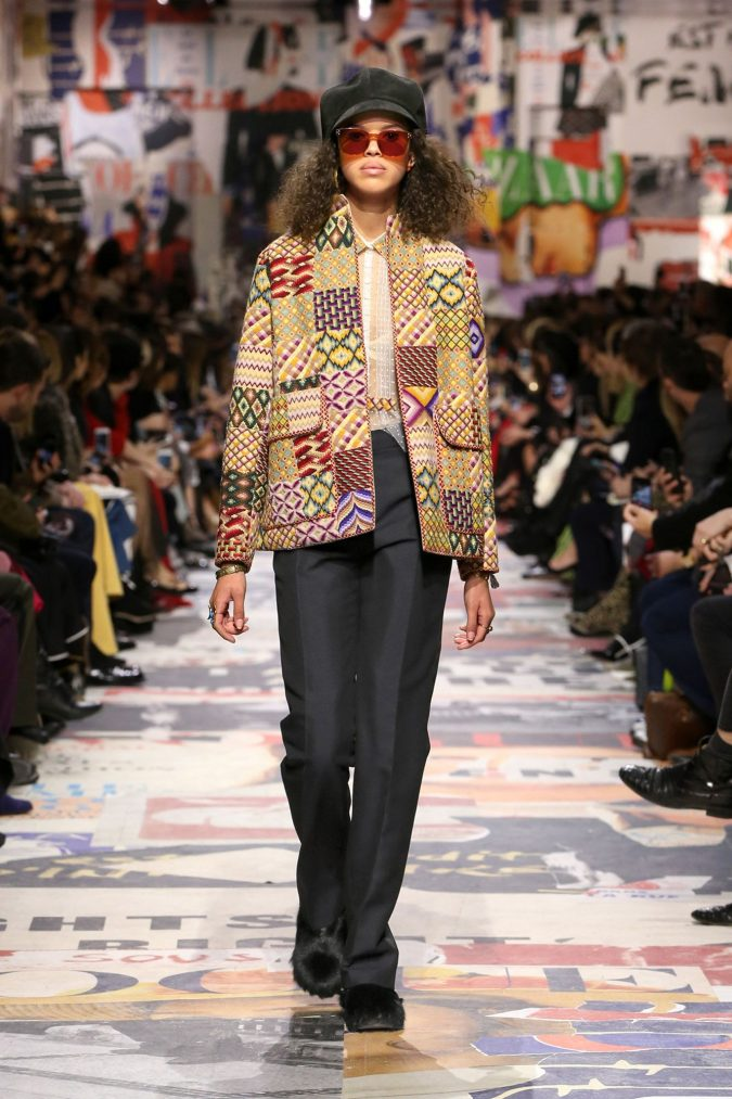 fall-winter-fashion-2020-patched-jacket-Dior-675x1013 Top 10 Fashionable Winter Fashion Outfit Ideas for Teens in 2020