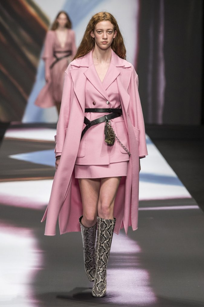 fall-winter-fashion-2020-pink-skirt-suit-coat-Maryling-675x1013 45+ Elegant Work Outfit Ideas for Fall and Winter 2020