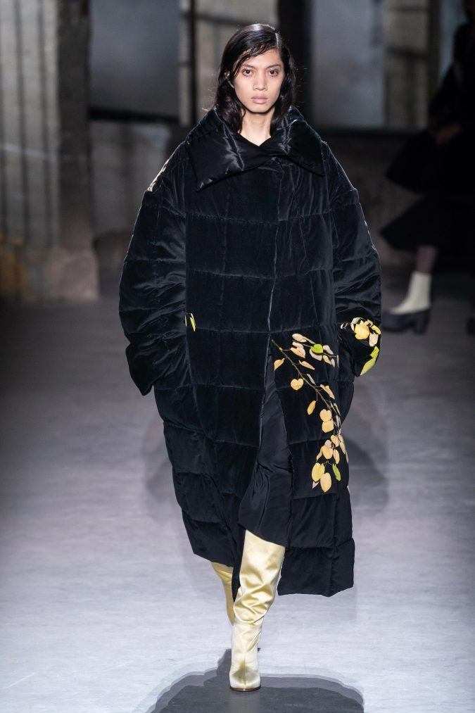 fall-winter-fashion-2020-puffer-coat-Dries-Van-Noten-675x1013 120+ Lovely Floral Outfit Ideas and Trends for All Seasons 2020