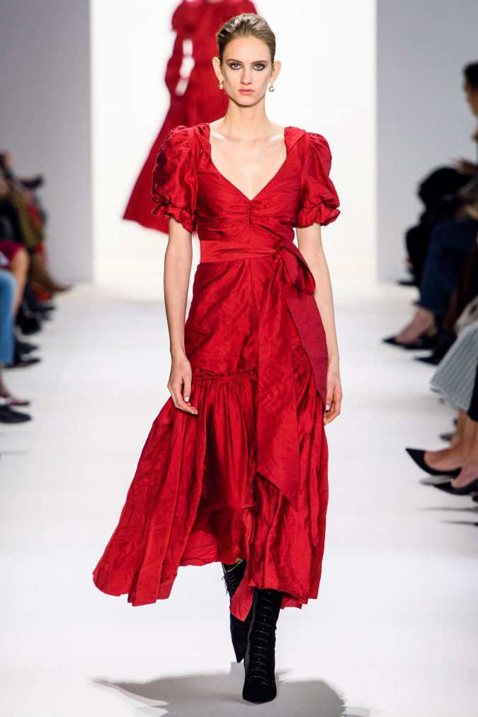 fall-winter-fashion-2020-red-dress-Brock-675x1013 Top 10 Winter Predictions and Trends for 2020