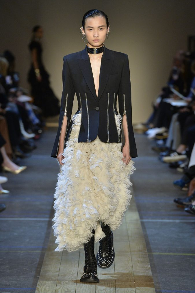 fall-winter-fashion-2020-ruffled-dress-Alexander-McQueen-675x1013 120+ Lovely Floral Outfit Ideas and Trends for All Seasons 2020