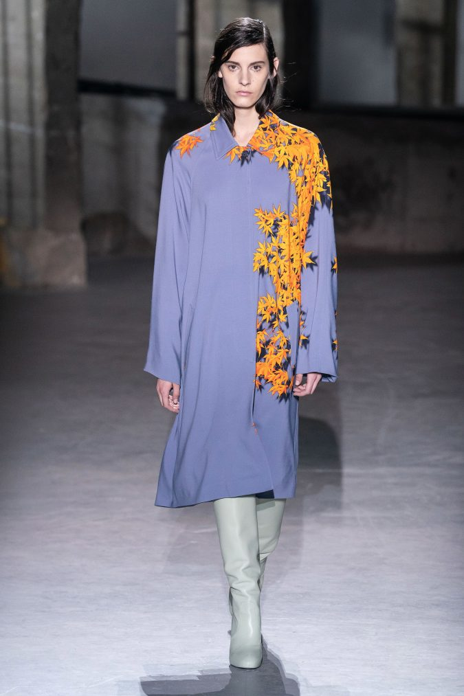fall-winter-fashion-2020-shirt-dress-Dries-Van-Noten-675x1013 120+ Lovely Floral Outfit Ideas and Trends for All Seasons 2020