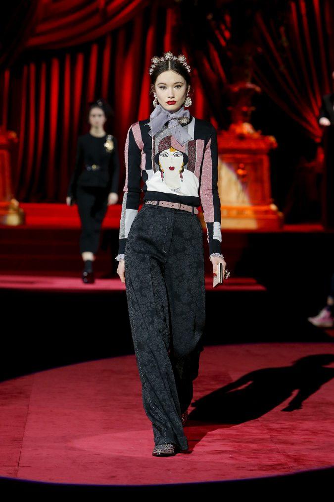 fall-winter-fashion-2020-wide-leg-pants-bow-Dolce-and-Gabbana-675x1013 65+ Hottest Fall and Winter Accessories Fashion Trends in 2020