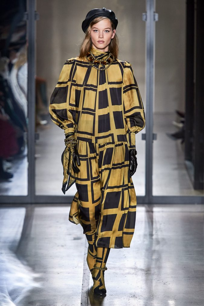 fall-winter-fashion-accessories-2020-patterned-dress-wrest-bow-Zimmermann-675x1013 65+ Hottest Fall and Winter Accessories Fashion Trends in 2020