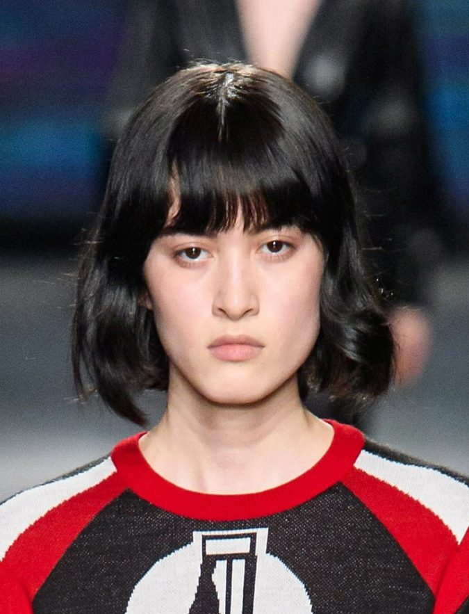 fringe-bob-hairstyle-2020-MSGM-675x883 20 Mind-blowing Fall / Winter Hairstyles for Women in 2021