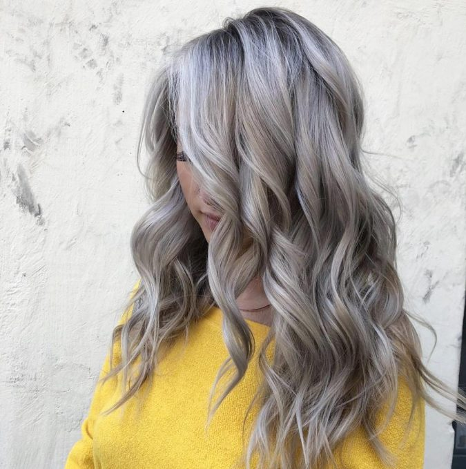 grey-and-blonde-hair-675x679 12 Hottest Fall/Winter Hair Color Ideas for Women 2020