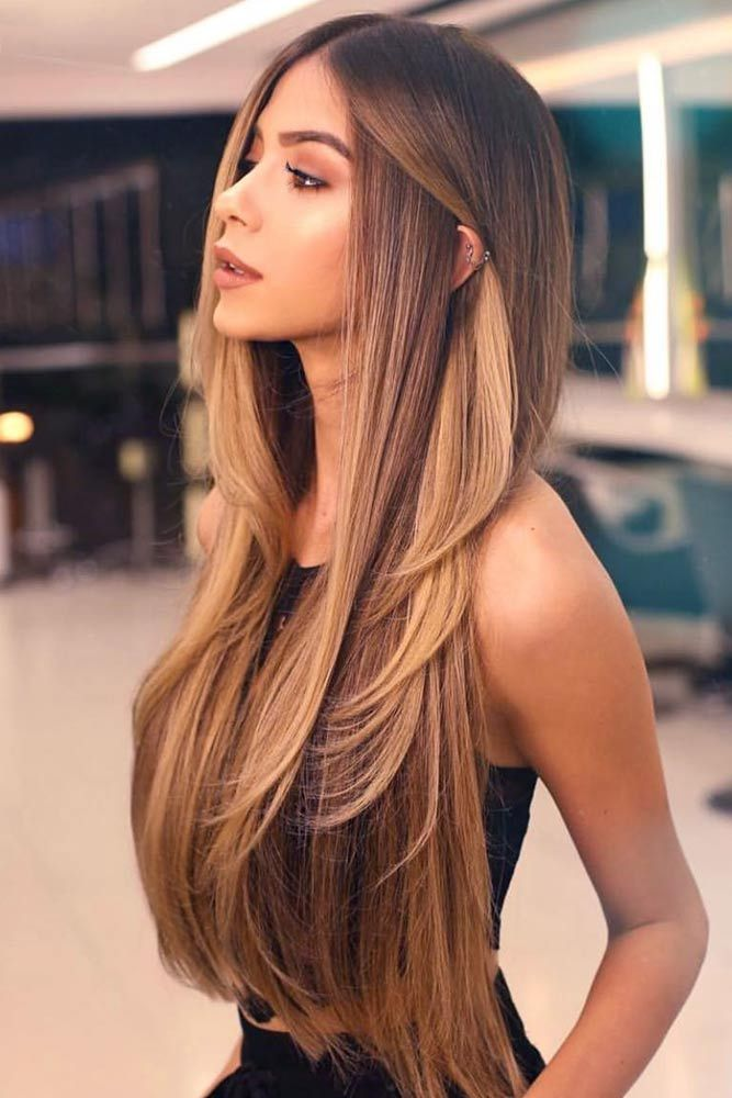 long-middle-part-hairstyle 20 Mind-blowing Fall / Winter Hairstyles for Women in 2021
