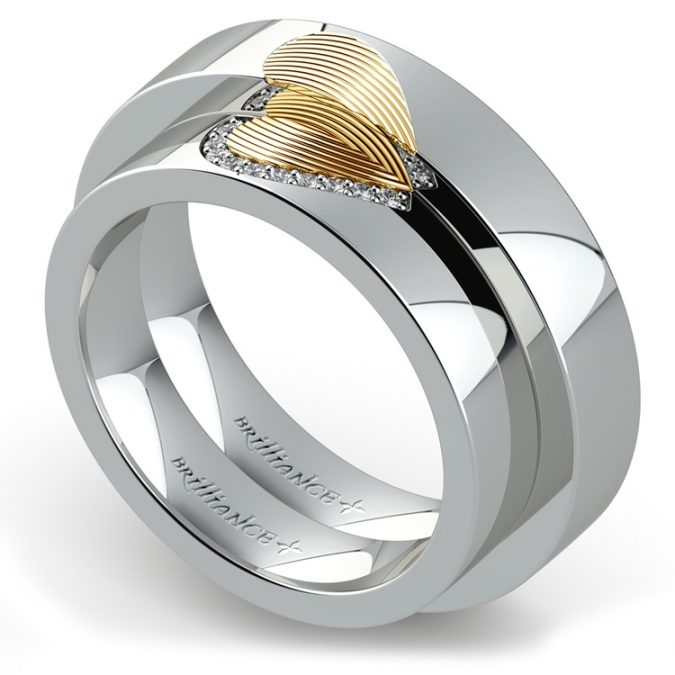 matching-heart-fingerprint-wedding-ring-675x675 Everything You Need to Know about Wedding Rings