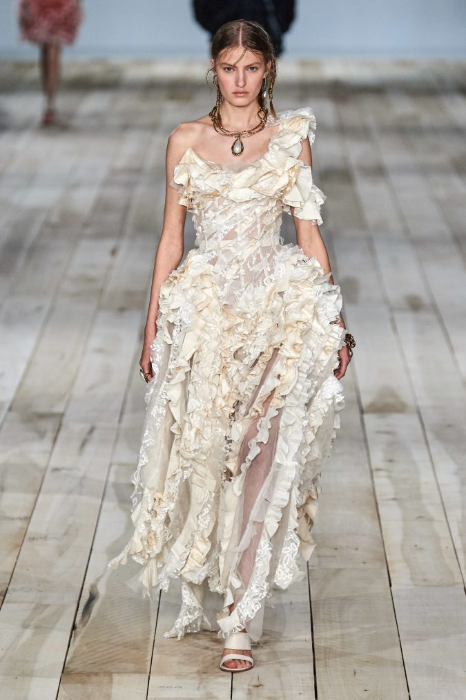 spring-summer-fashion-2020-dress-Alexander-McQueen-2-675x1013 120+ Lovely Floral Outfit Ideas and Trends for All Seasons 2020