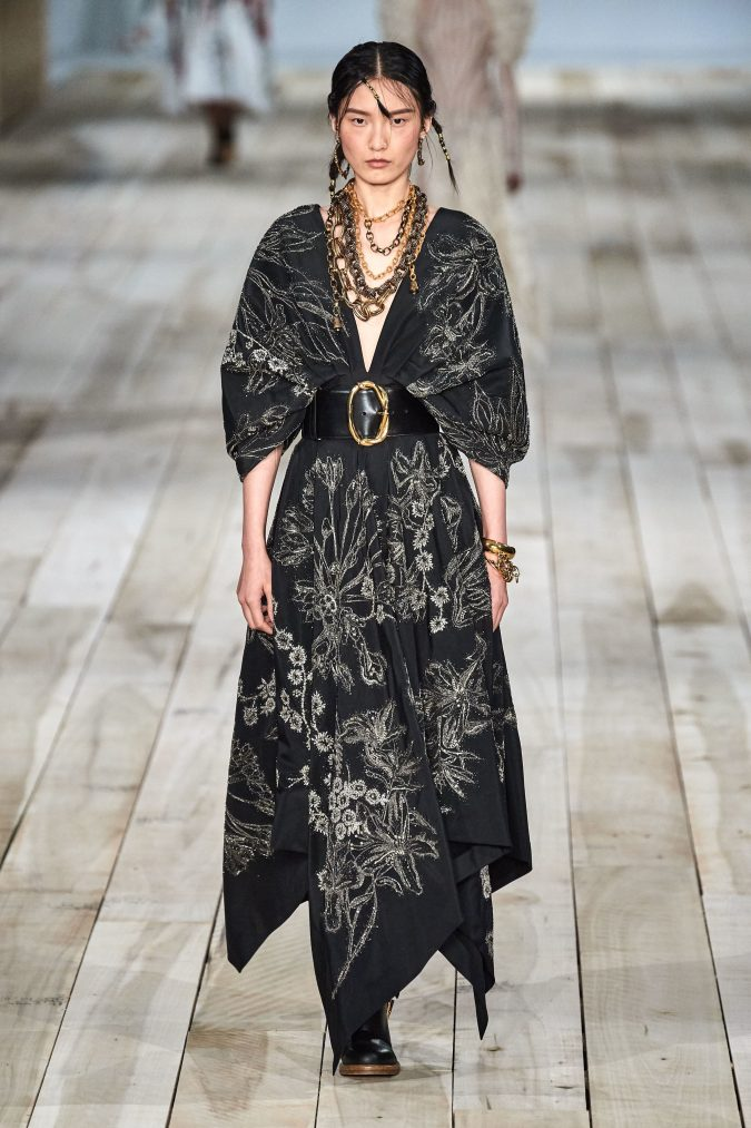 spring-summer-fashion-2020-floral-dress-Alexander-McQueen-2-675x1013 120+ Lovely Floral Outfit Ideas and Trends for All Seasons 2020