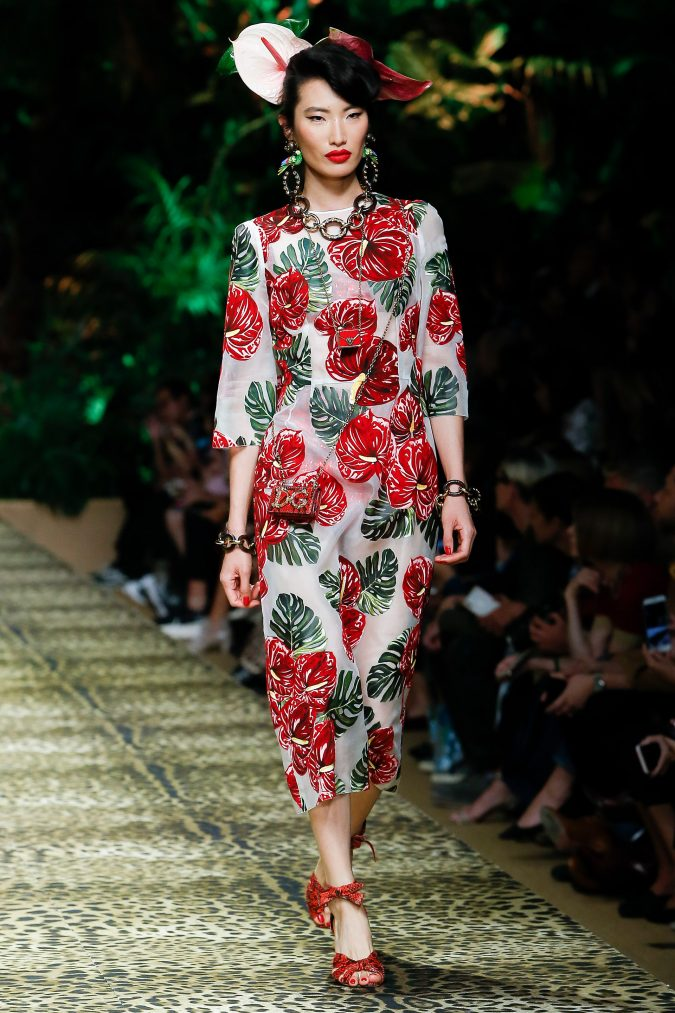 spring-summer-fashion-2020-floral-dress-Dolce-and-Gabbana-3-675x1013 120+ Lovely Floral Outfit Ideas and Trends for All Seasons 2020