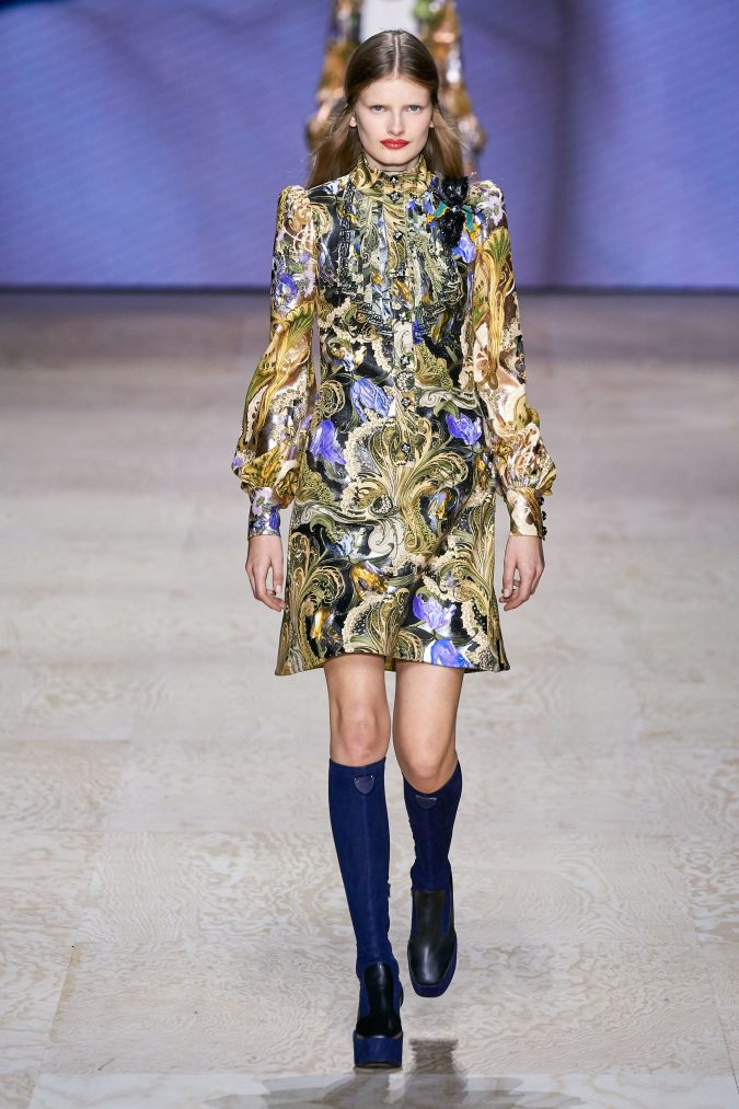 spring-summer-fashion-2020-floral-dress-Louis-Vuitton-675x1013 120+ Lovely Floral Outfit Ideas and Trends for All Seasons 2020
