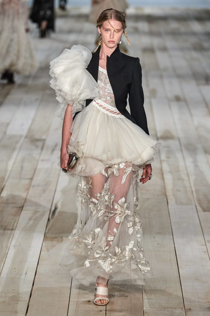 spring-summer-fashion-2020-floral-dress-blazer-Alexander-McQueen-675x1013 120+ Lovely Floral Outfit Ideas and Trends for All Seasons 2020