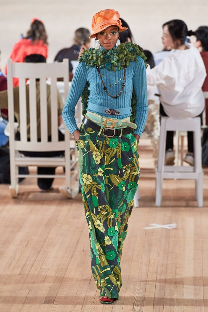 spring-summer-fashion-2020-floral-pants-Marc-Jacobs-675x1013 120+ Lovely Floral Outfit Ideas and Trends for All Seasons 2020