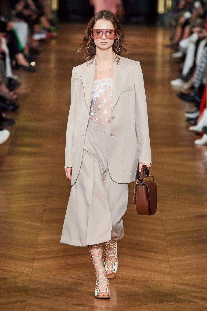 spring-summer-fashion-2020-pantsuit-see-through-floral-top-Stella-McCartney-675x1013 120+ Lovely Floral Outfit Ideas and Trends for All Seasons 2020