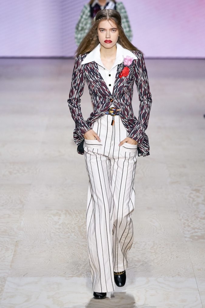 spring-summer-fashion-2020-wide-leg-pants-blazer-Louis-Vuitton-675x1013 120+ Lovely Floral Outfit Ideas and Trends for All Seasons 2020