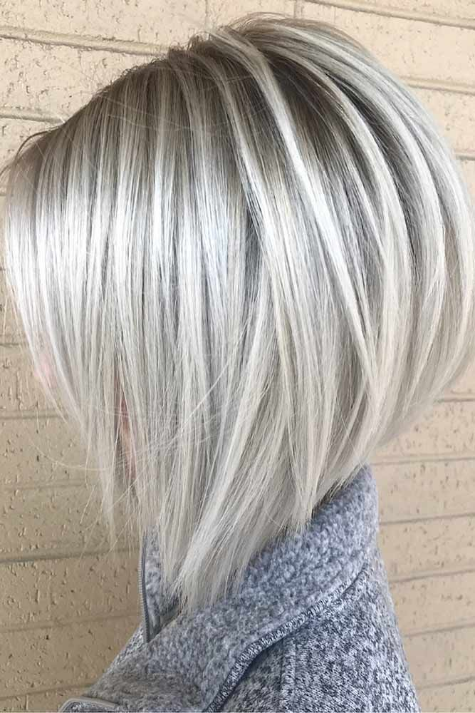 visible-roots-grey-bob-hairstyle 20 Mind-blowing Fall / Winter Hairstyles for Women in 2020