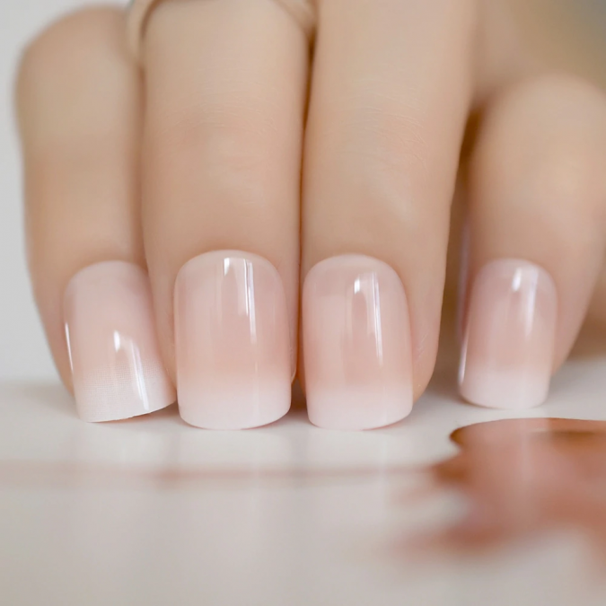 Beige-Gradient-French-Manicure-Natural-looking-Nails-675x675 10 Lovely Nail Polish Trends for Next Fall & Winter