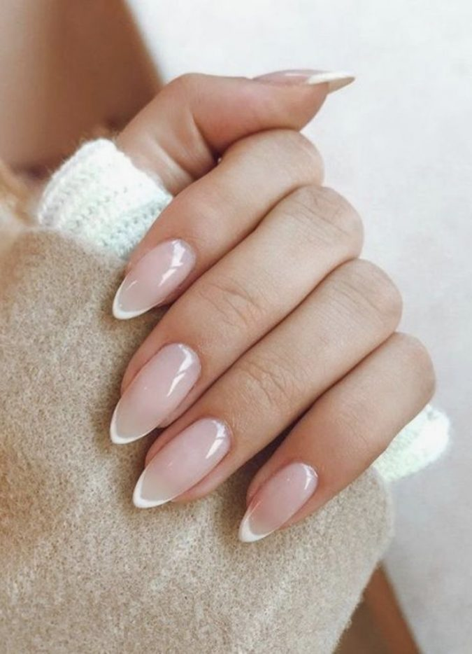 French-manicure-french-nails-675x934 35 Most Trendy Valentine's Day Nail Art Designs
