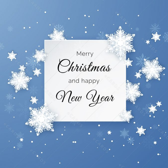 Merry-Christmas-happy-new-year-greeting-card-675x675 75+ Latest Happy New Year Greeting Cards for 2020