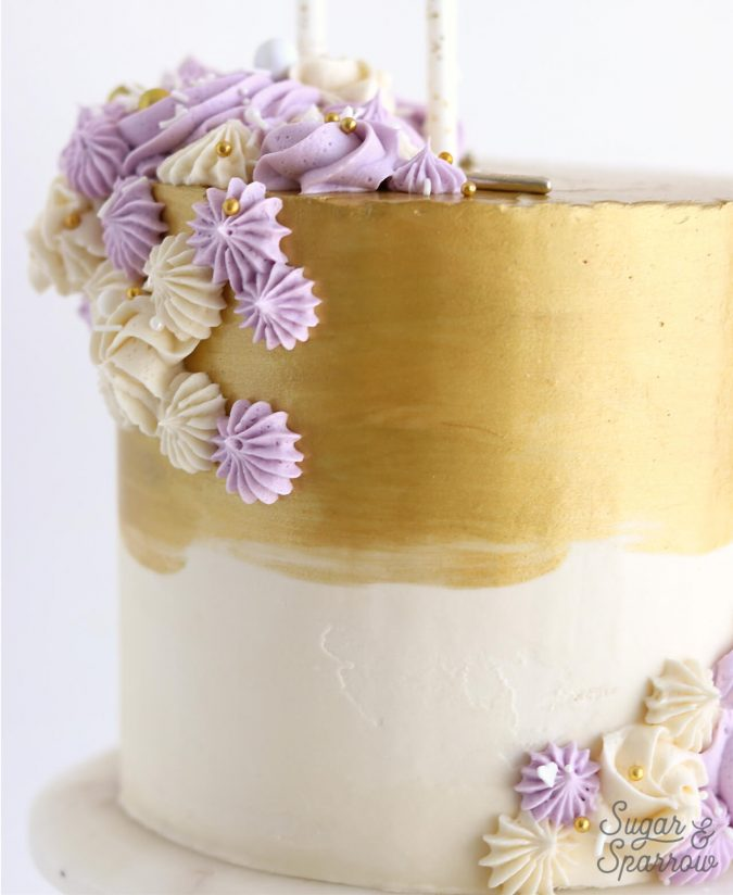 Metallic-Gold-Buttercream-christmas-Cake-675x824 16 Mouthwatering Christmas Cake Decoration Ideas 2021