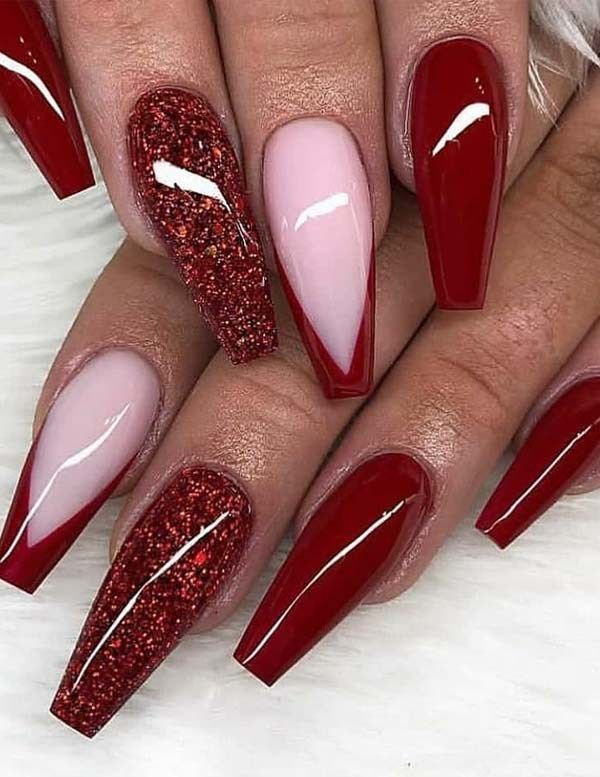 Red-Nails-2 10 Lovely Nail Polish Trends for Next Fall & Winter