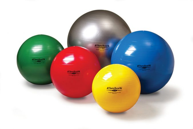Thera-Band-exercise-and-stability-ball-675x450 Top 15 Best Home Gym Equipment to Get Fit
