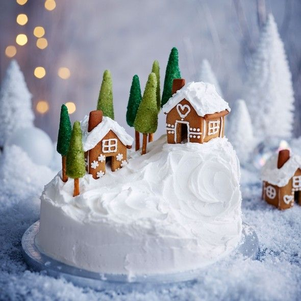 alpine-Christmas-cake 16 Mouthwatering Christmas Cake Decoration Ideas 2020
