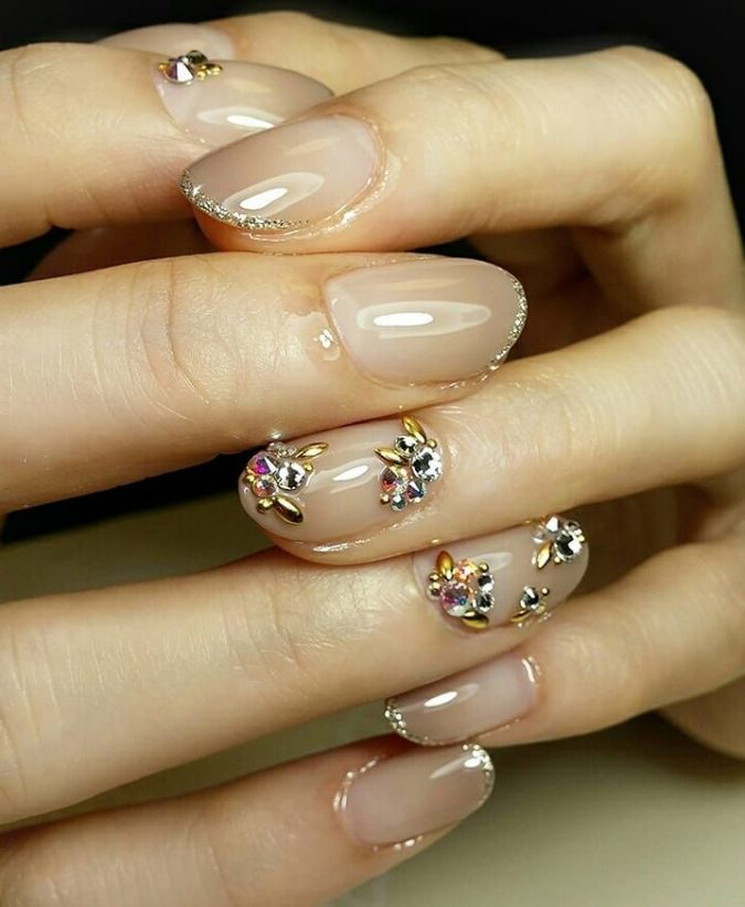 barely-there-embellished-nails-675x822 Top 10 Most Luxurious Nail Designs for 2021