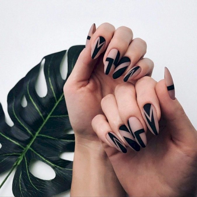 black-and-nude-nail-art-675x675 Top 10 Most Luxurious Nail Designs for 2020