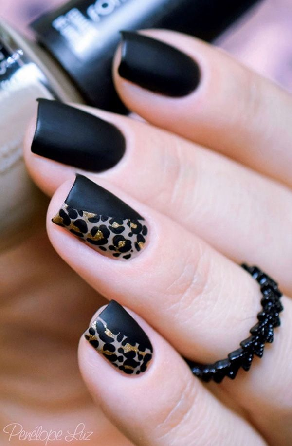black-animal-prints-nail-art Top 10 Most Luxurious Nail Designs for 2021