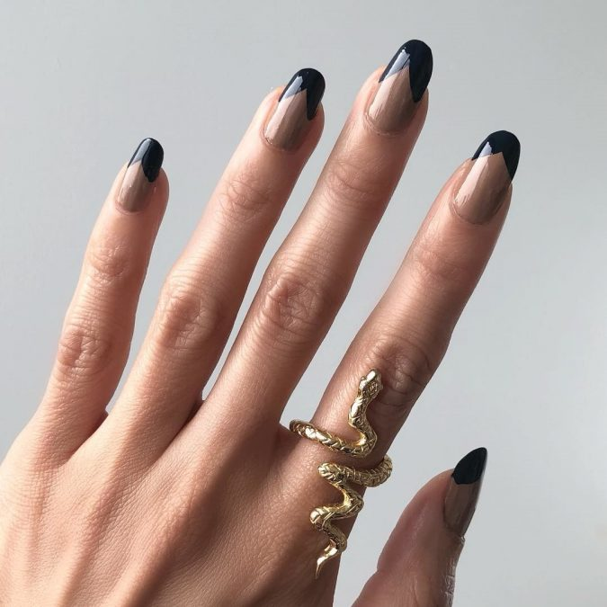 black-nails-michelle-lee-fall-nails-675x675 10 Lovely Nail Polish Trends for Next Fall & Winter