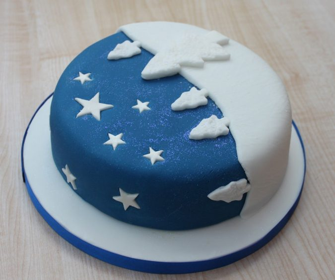 blue-Christmas-cake-675x565 16 Mouthwatering Christmas Cake Decoration Ideas 2020
