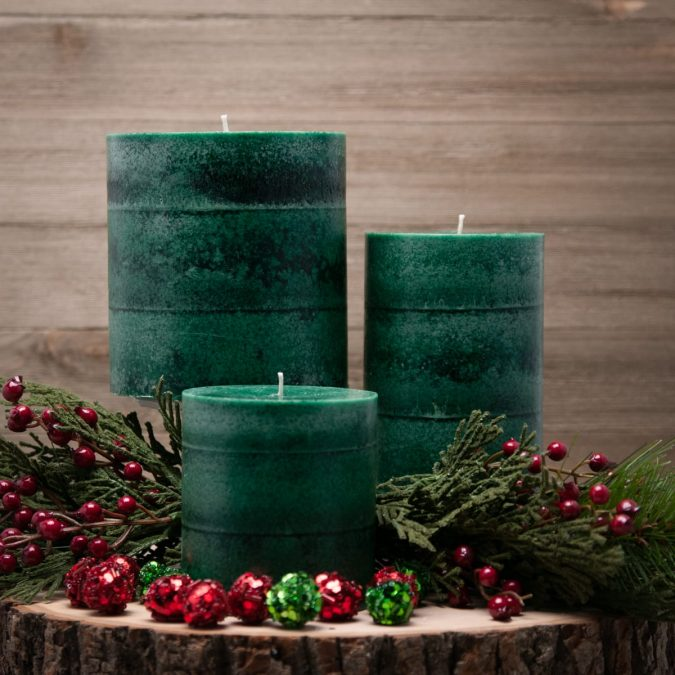 christmas-decoration-evergreen-scented-candles-trio-675x675 50+ Hottest Christmas Decoration Ideas for 2021