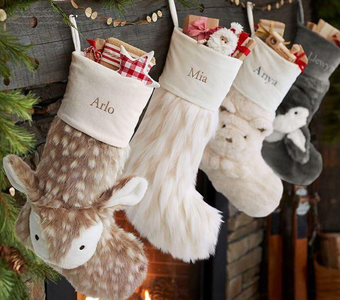 christmas-decoration-faux-fur-stockings-4-675x596 50+ Hottest Christmas Decoration Ideas for 2021