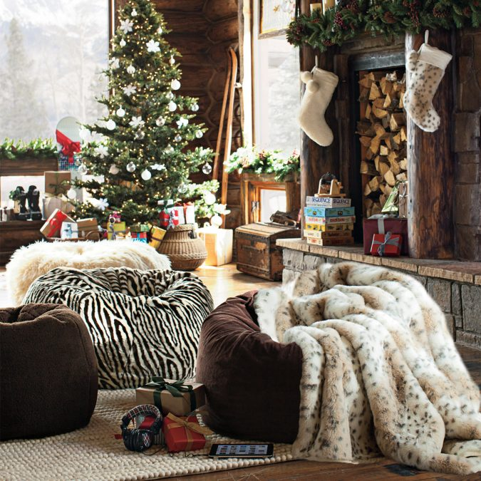 christmas-decoration-faux-fur-stockings-5-675x675 Give Your Home a New Festive Christmas with +90 Themes & Ideas