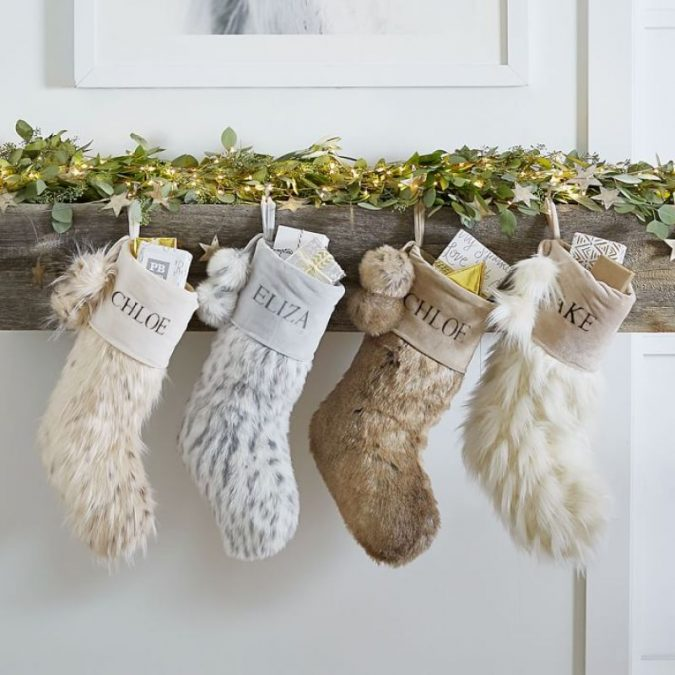 christmas-decoration-faux-fur-stockings-675x675 50+ Hottest Christmas Decoration Ideas for 2020