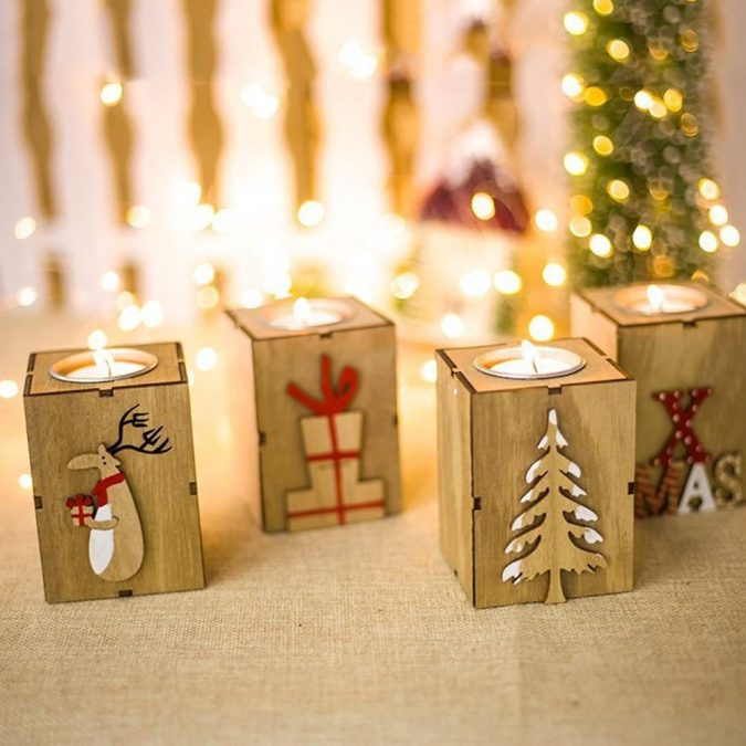 christmas-decoration-wood-tea-light-holders-675x675 50+ Hottest Christmas Decoration Ideas for 2020