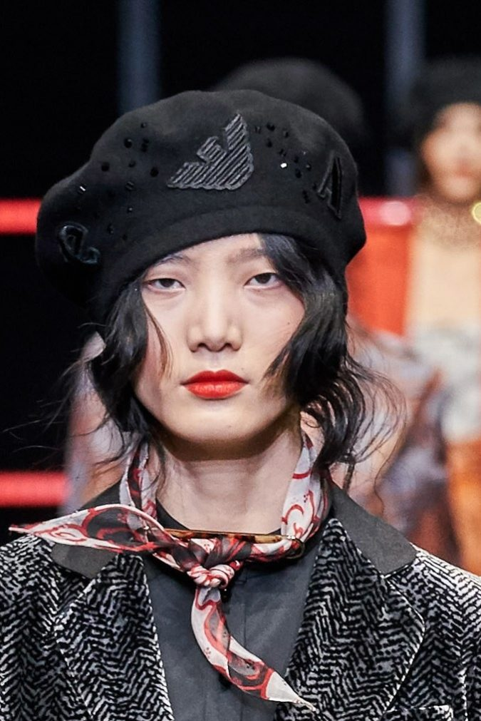 fall-winter-fashion-2020-beret-Emporio-Armani-1-675x1011 10 Elegant Women's Hat Trends For Winter 2020
