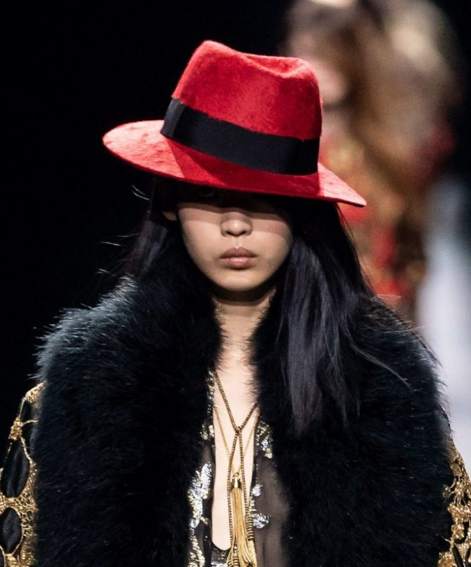 fall-winter-fashion-2020-hat-Saint-Laurent-scaled-e1575835496479-675x813 10 Elegant Women's Hat Trends For Winter 2020