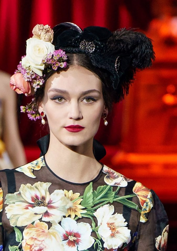 fall-winter-fashion-2020-statement-adorned-hat-Dolce-and-Gabbana-2-675x957 10 Elegant Women's Hat Trends For Winter 2020