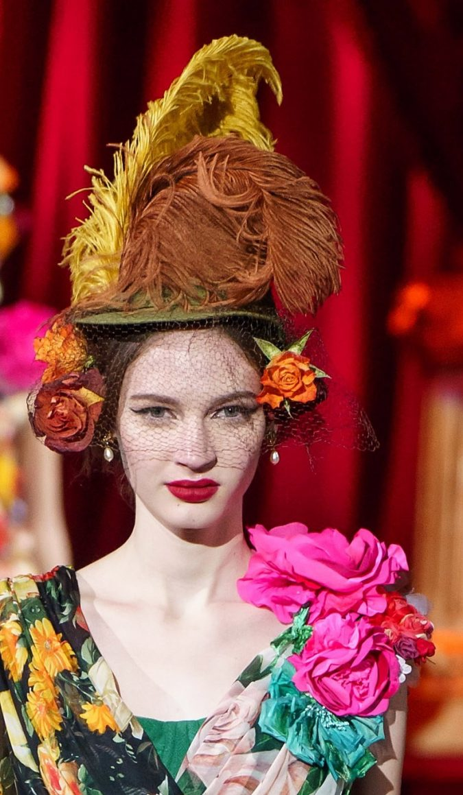 fall-winter-fashion-2020-statement-adorned-hat-Dolce-and-Gabbana-4-675x1159 10 Elegant Women's Hat Trends For Winter 2020
