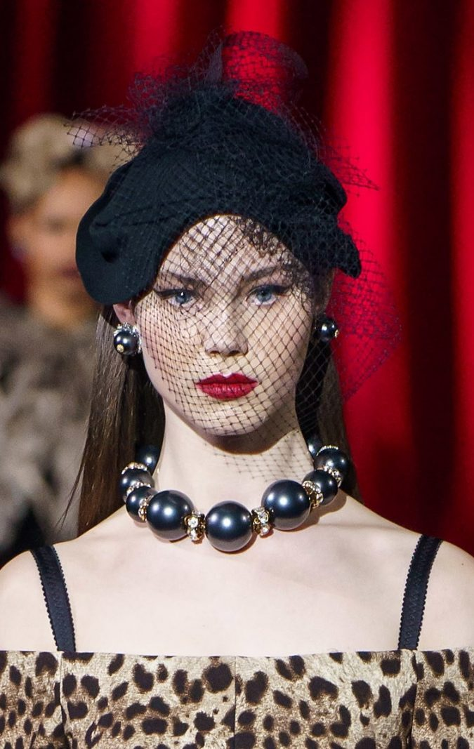 fall-winter-fashion-2020-veiled-hat-Dolce-and-Gabbana-2-675x1067 10 Elegant Women's Hat Trends For Winter 2020