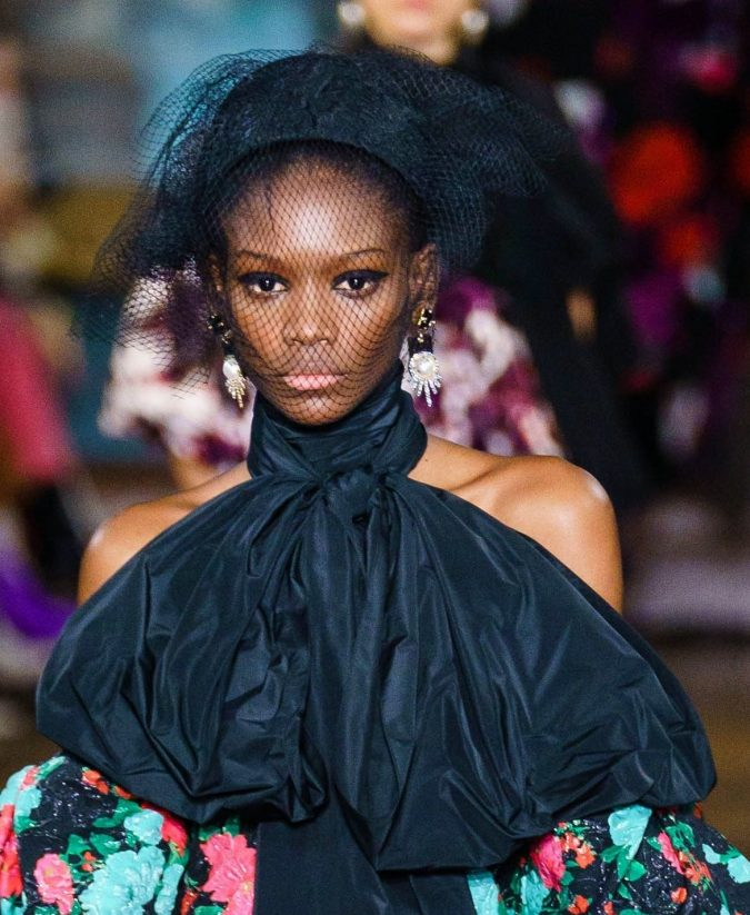 fall-winter-fashion-2020-veiled-hat-Erdem-675x823 10 Elegant Women's Hat Trends For Winter 2020