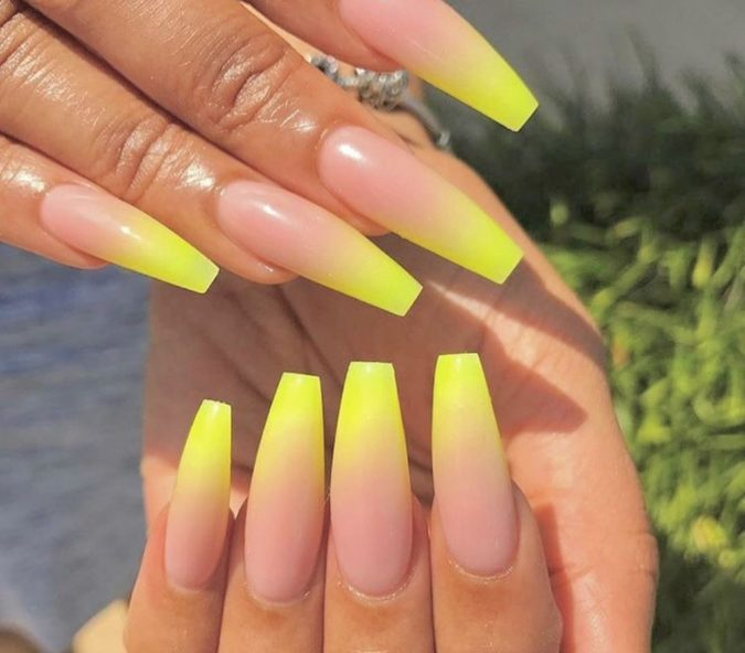 french-nails-natural-and-yellow-nail-design-675x592 Top 10 Most Luxurious Nail Designs for 2020