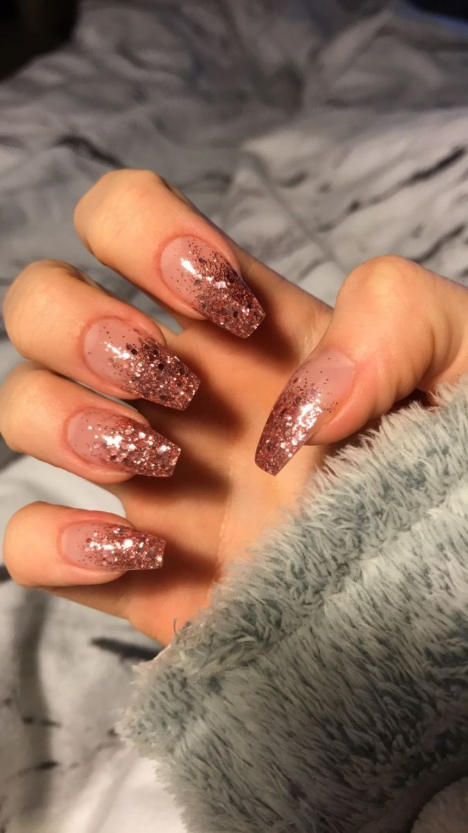 glitter-barely-there-nails-675x1201 Top 10 Most Luxurious Nail Designs for 2020