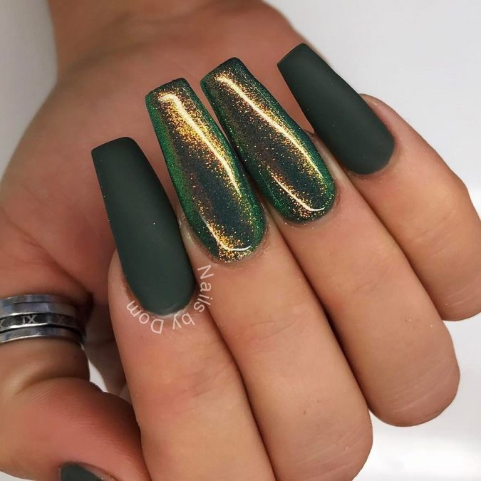 green-nail-art-675x675 10 Lovely Nail Polish Trends for Fall & Winter 2020