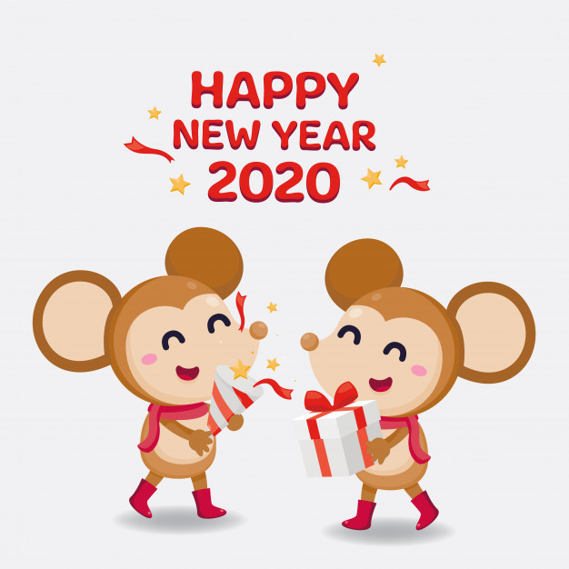 happy-new-year-cartoon-greeting-card-2020 75+ Latest Happy New Year Greeting Cards for 2020