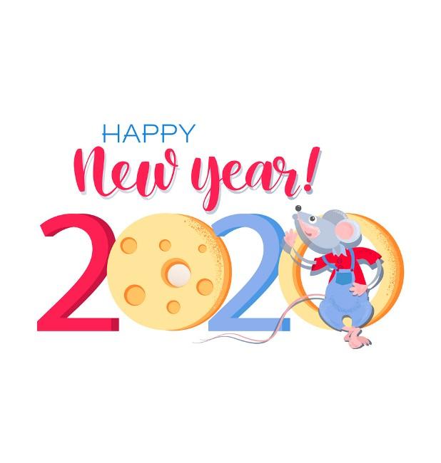 happy-new-year-cartooon-greeting-card-2020 75+ Latest Happy New Year Greeting Cards for 2021