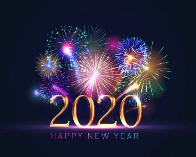 happy-new-year-greeting-card-2020-fireworks-675x540 75+ Latest Happy New Year Greeting Cards for 2020